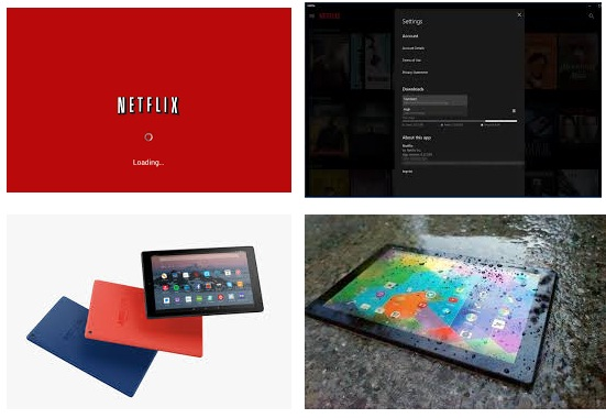 características de Netflix para tablet Android