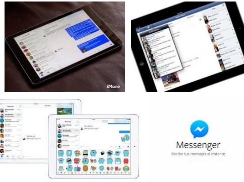 características de Facebook Messenger para iPad