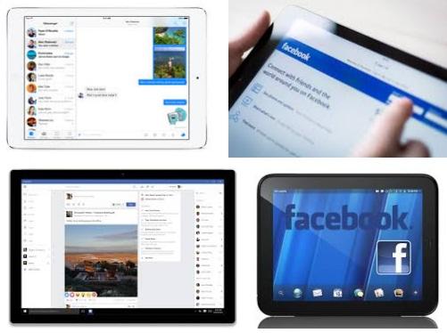 características de Facebook para tablet Android