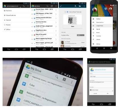 características de Google Drive para Android