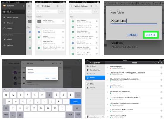 características de Google Drive para iPad
