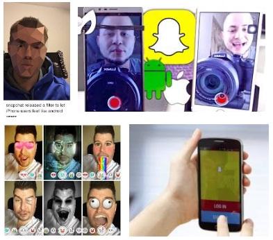 características de Snapchat para Android