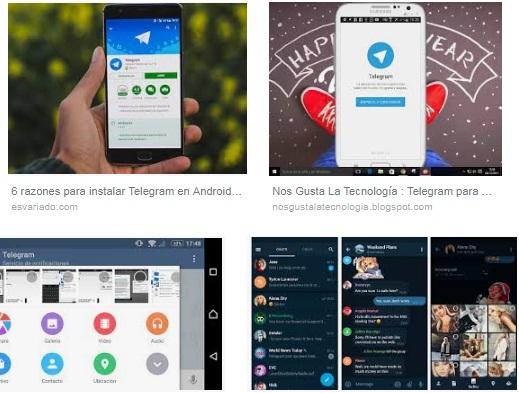 características de Telegram para Android