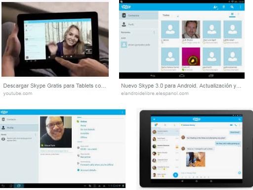 Descargar Skype para tablet android