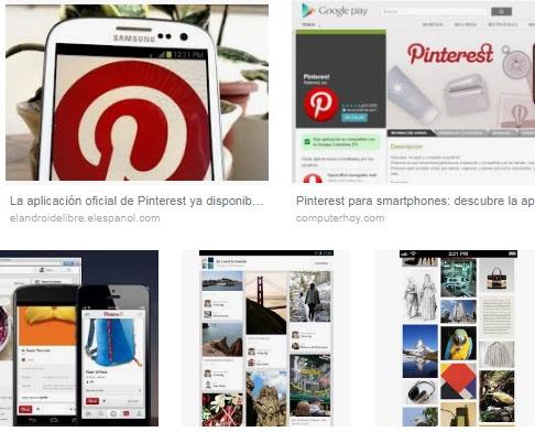 características de Pinterest para Android