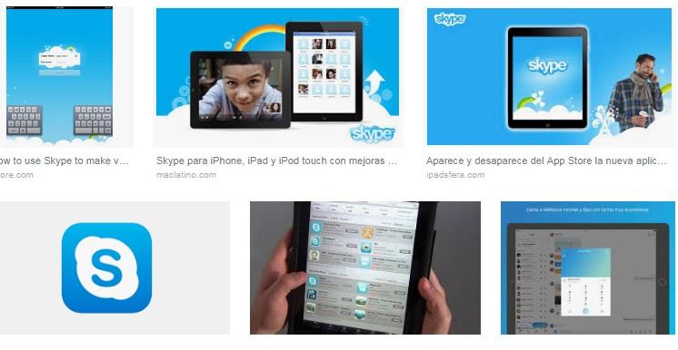 características de Skype para iPad