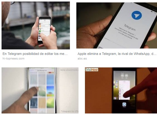 características de Telegram para iPhone