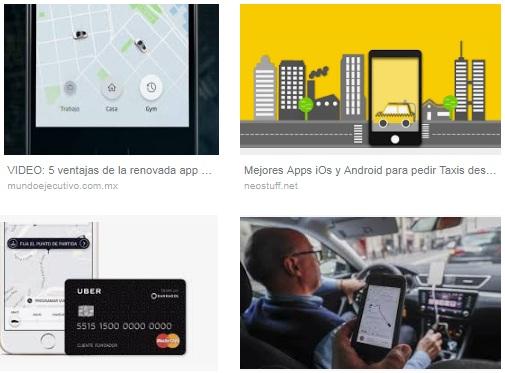 características de Uber para Android