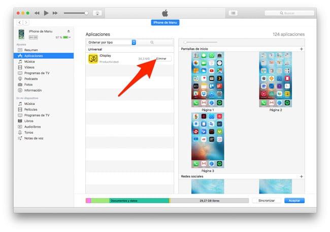 Cómo desinstalar una aplicación en iOS