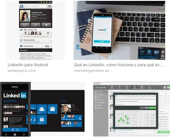 Características de Linkedin para iPad