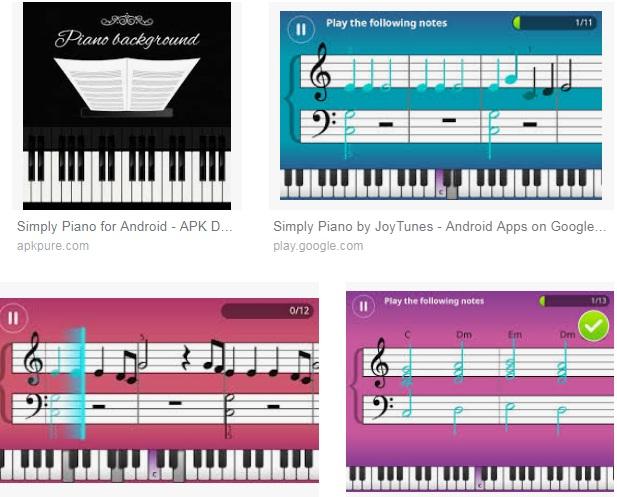 Características de Piano para Android