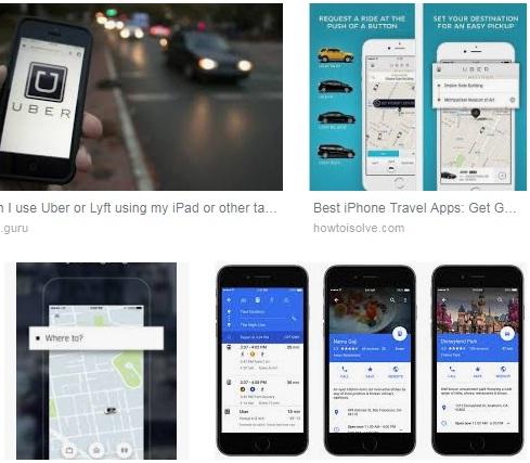 Características de Uber para iPad