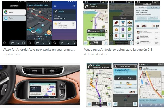 Características de Waze para Android