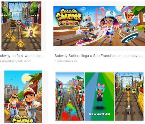 Características del juego Subway Surfers para Android