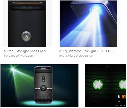 características de Linterna para Android