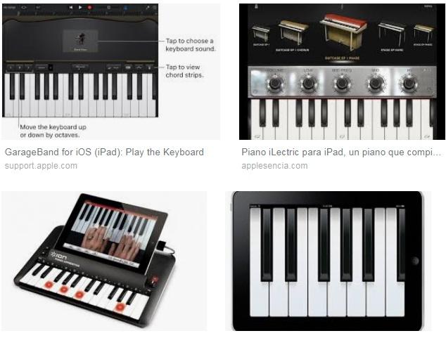 características de Piano para iPad