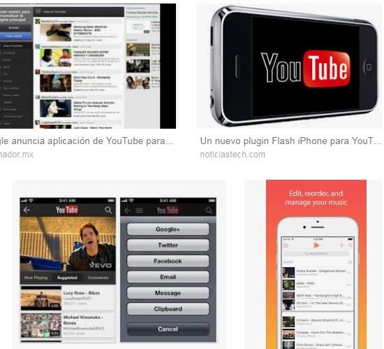 características de Youtube para iPhone