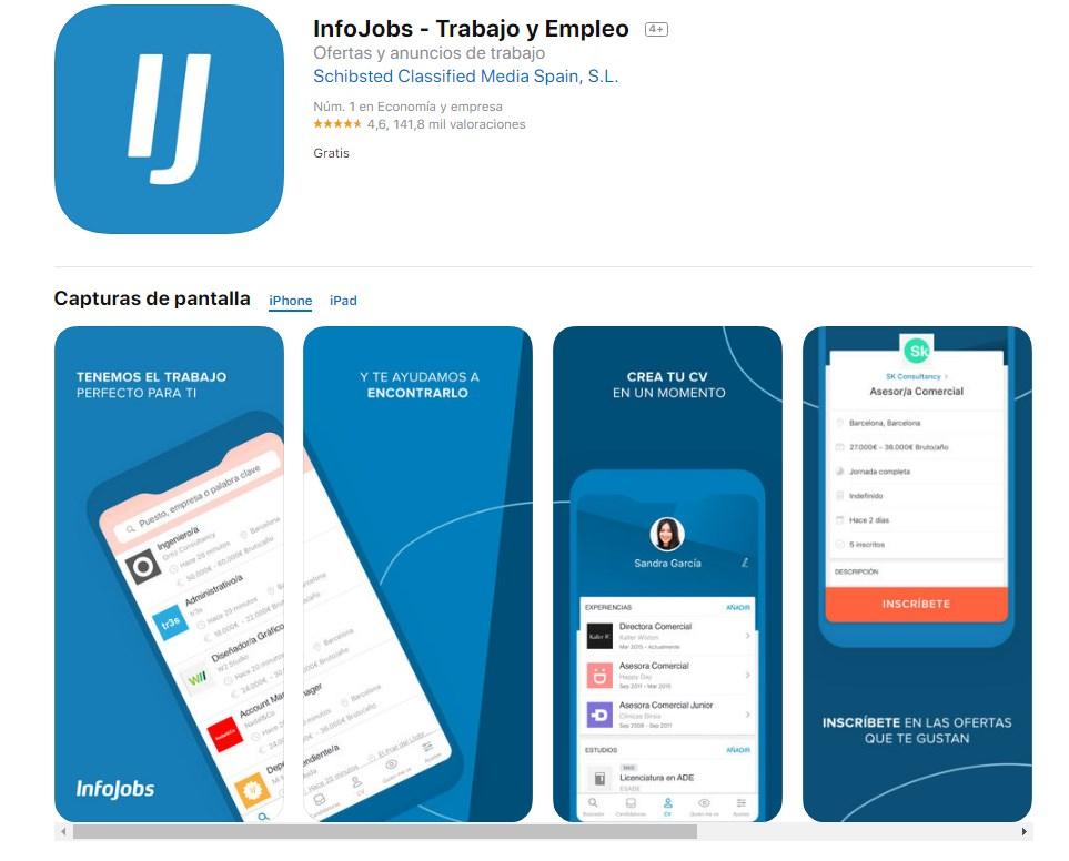 descargar infojobs ios